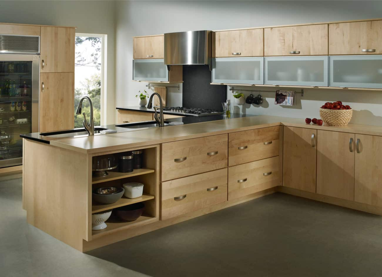 light wood kitchen cabinets - | aesops gables (505) 275-1804