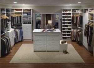 Master Suite Antique White Closet System